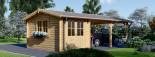 Carport en bois avec abri, 4x7.5 m, 30 m² visualization 3