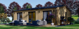 Chalet en bois ANGELA (44 mm + bardage), 50 m²  visualization 1