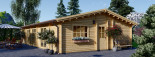 Chalet en bois habitable JULIA (44+44 mm, RT2012), 103 m² visualization 8