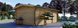 Abri de jardin ELEONORA (44 mm), 6.6x3 m, 19.8 m² visualization 5