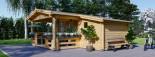 Abri de jardin ISLA (66 mm), 18 m² + 7 m² terrasse visualization 6