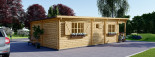 Chalet en bois à toit plat HYMER (66 mm), 42 m² + 10 m² terrasse visualization 5