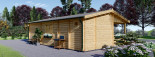 Chalet en bois AMELIA (44 mm), 32 m² + 20 m² terrasse visualization 6