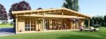 Chalet en bois habitable RIVIERA (44+44 mm, RT2012), 100 m² + 20 m² terrasse visualization 2