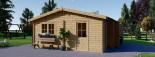 Garage en bois double ALTERNATIVE (44 mm), 6x6 m, 36 m² visualization 6