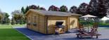 Chalet en bois habitable DIJON (44+44 mm, RT2012), 44 m² visualization 3