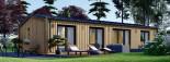 Chalet en bois habitable NICOLE (44 mm + bardage, RT2012), 78 m² visualization 4