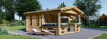 Abri de jardin ISLA (44 mm), 18 m² + 7 m² terrasse visualization 3