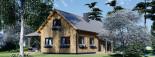 Chalet en bois habitable VERA (44+44 mm, RT2012) 132 m² + 13.5 m² terrasse visualization 8