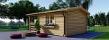 Abri de jardin SHANON (66 mm), 16 m² + 6 m² terrasse visualization 5