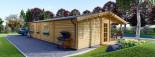 Chalet en bois habitable LINDA (44+44 mm, RT2012), 78 m² + 38 m² terrasse visualization 5