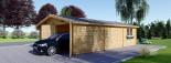 Garage en bois (44 mm), 6x9 m, 54 m² visualization 5