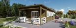 Chalet en bois à toit plat HYMER (66 mm), 42 m² + 10 m² terrasse visualization 8