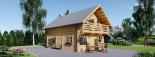 Chalet en bois habitable 2 etages LANGON (44+44 mm, RT2012), 95 m² visualization 1