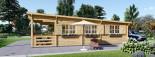 Chalet en bois à toit plat HYMER (66 mm), 42 m² + 10 m² terrasse visualization 7