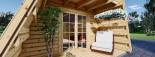 Abri de jardin TIPI, 4.5x7 m, 23 m² + 14 m² mezzanine visualization 9