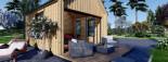 Chalet en bois habitable SALLY (44 mm + bardage, RT2012), 20 m² visualization 8