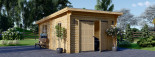 Garage en bois à toit plat MODERN (44 mm), 4x6 m, 24 m² visualization 2