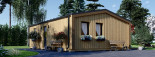 Chalet en bois ANGELA (44 mm + bardage), 50 m²  visualization 5