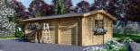 Carport en bois avec abri, 4x7.5 m, 30 m² visualization 4