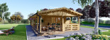 Chalet en bois habitable TOSCANA (44+44 mm, RT2012), 53 m² + 29 m² terrasse visualization 2