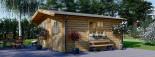 Abri de jardin DREUX (44+44 mm, RT2012), 6x6 m, 36 m² visualization 2