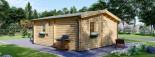 Chalet en bois NANTES (44+44 mm, RT2012), 24 m² + 3.5 m² terrasse visualization 5