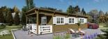 Chalet en bois à toit plat HYMER (66 mm), 42 m² + 10 m² terrasse visualization 9