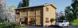 Chalet en bois habitable TOULOUSE (44+44 mm, RT2012), 100 m² + 20 m² terrasse visualization 7