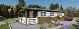 Chalet en bois HYMER (66 mm), 42 m² + 10 m² terrasse visualization 9