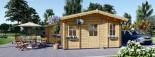 Chalet en bois habitable DIJON (44+44 mm, RT2012), 44 m² visualization 6