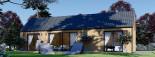 Chalet en bois ADA (44 mm + bardage), 50 m² visualization 5