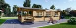 Chalet en bois HYMER (66 mm), 42 m² + 10 m² terrasse visualization 3