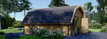 Garage en bois BARN (44 mm), 5x6 m, 30 m² visualization 4