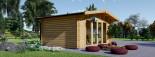 Studio de jardin MARTA (44+44 mm, RT2012), 5x4 m, 19.9 m² visualization 4