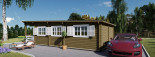 Chalet en bois à toit plat HYMER (66 mm), 42 m² + 10 m² terrasse visualization 10