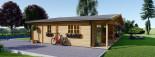 Chalet en bois habitable RIVIERA (44+44 mm, RT2012), 100 m² + 20 m² terrasse visualization 9