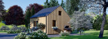 Chalet en bois SARA (44 mm + bardage), 20 m² visualization 5