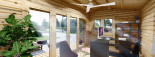 Bureau de jardin TINA (44 mm + bardage), 5.5x5 m, 22 m² + 5.5 m² auvent visualization 10