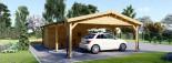 Carport en bois double avec abri, 6x7.5 m, 45 m² visualization 8