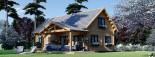 Chalet en bois habitable VERA (44+44 mm, RT2012) 132 m² + 13.5 m² terrasse visualization 1