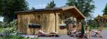 Abri de jardin avec appenti CLARA (44 mm), 7x4 m, 28 m² visualization 5