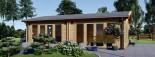 Studio de jardin habitable MARINA (44+44 mm, RT2012), 8x6 m, 48 m² visualization 2