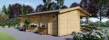Chalet en bois AMELIA (66 mm), 32 m² + 20 m² terrasse visualization 6