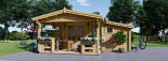 Abri de jardin ISLA (66 mm), 18 m² + 7 m² terrasse visualization 2