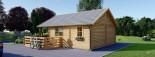 Chalet en bois avec mezzanine ANGERS (44+44 mm, RT2012), 36 m² + 19 m² terrasse visualization 6