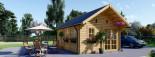 Chalet en bois SCOOT (44 mm), 27 m² + 9 m² mezzanine visualization 2