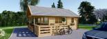 Chalet en bois avec mezzanine ANGERS (44+44 mm, RT2012), 36 m² + 19 m² terrasse visualization 5