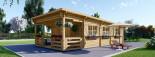 Chalet en bois à toit plat HYMER (66 mm), 42 m² + 10 m² terrasse visualization 2