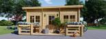 Chalet en bois à toit plat ALTURA (44+44 mm, RT2012), 31m² +  8 m² terrasse visualization 2